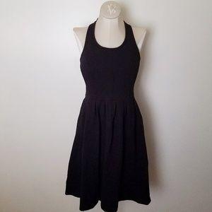 Anthropologie Ganni Black Halter Dress size Small